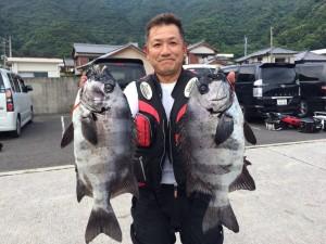 柴田さん  石鯛57cm  48cm