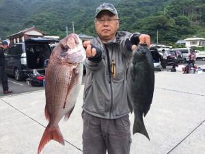 若松さん   鯛65cm  口太47cm