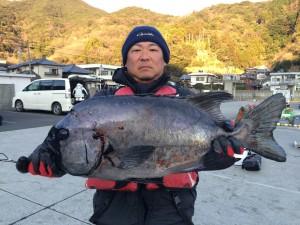 竹下さん   石鯛61cm  3.8kg